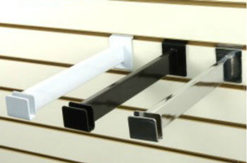 "Slatwall Hangrail Bracket 12"" For Rectangular Tubing 