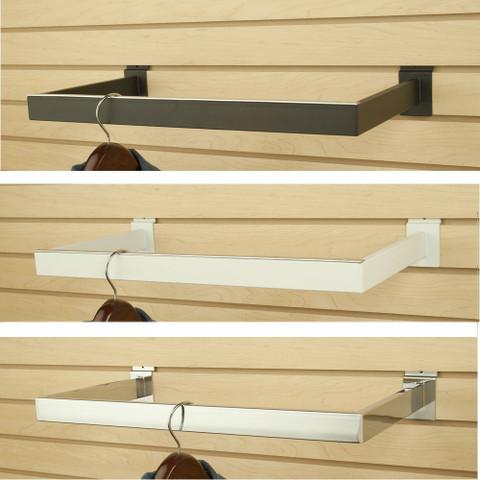 Slatwall U Shapped Hangrail | Black, White or Chrome | Case of 10
