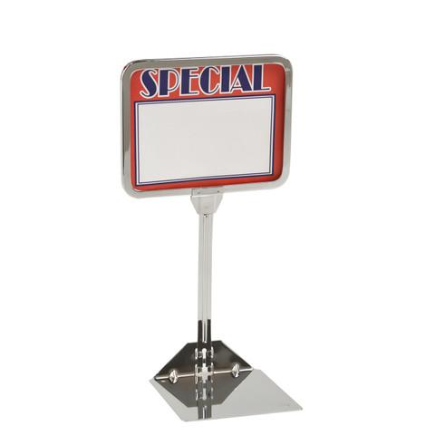 "5.5""H x 7""W Shovel Base Sign Holder | 10"" High Stem"