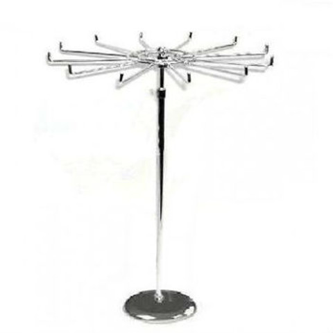 Single Tier Revolving Rack | Adjustable Height | Square or Round Base