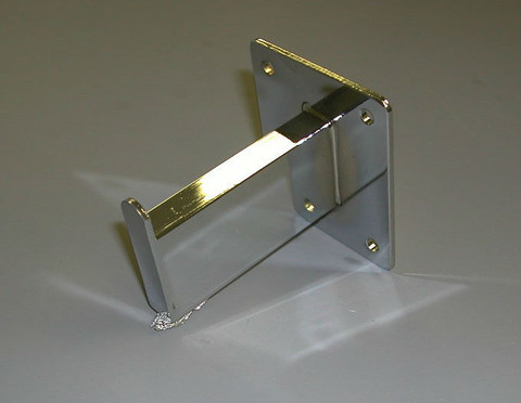 """3"""" Straight Wall Mount Rectangular Tube Faceout   Chrome"""