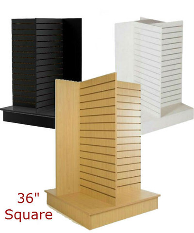 """4 Sided Slatwall Display Stand 