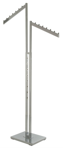 2 Way Clothing Rack With 2 Waterfall Blade Style Arms