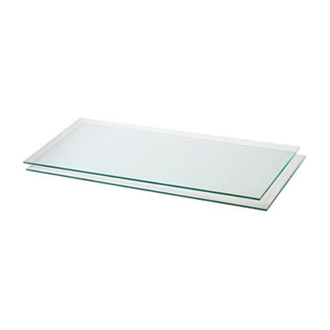 "Tempered Glass Shelves - 10""W x 24""L x 3/16""  Case of 10"