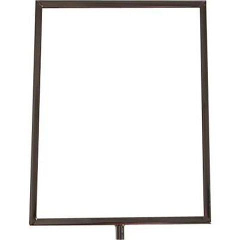 """11""""H x 8.5""""W Vertical Sign Holder with 3/8"""" Threaded Receiver"""