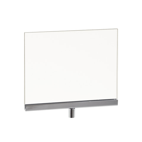 """5.5""""H x 7""""W Horizontal Plexy Sign Holder with 3/8"""" Threaded Receiver"""