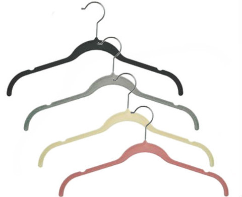 "17"" Slimline Velvet Dress & Shirt Hanger with Notches 