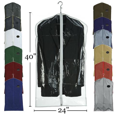 "40"" Vinyl Zippered Suit Cover | Case 100"