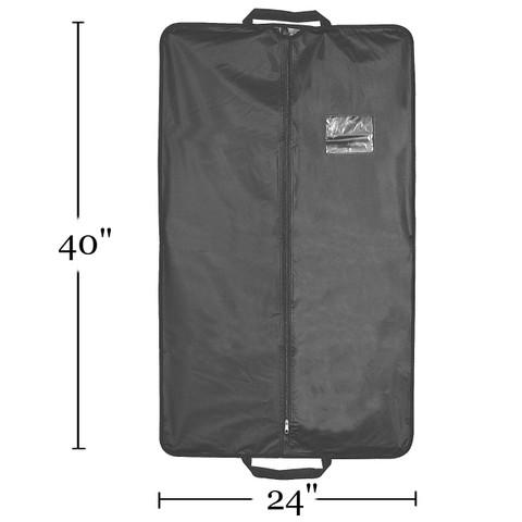 "40"" Heavy Duty Travel Vinyl Zippered Suit Cover BLACK | Case 50"