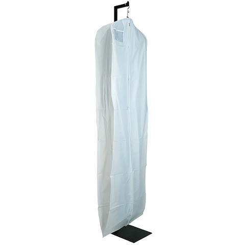 """72"""" White Vinyl Zippered Bridal Gown Cover"""