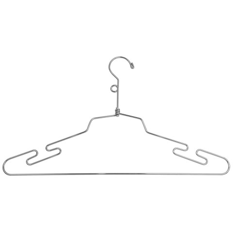 "16"" Metal  Lingerie Hanger w/ Loop Hook 