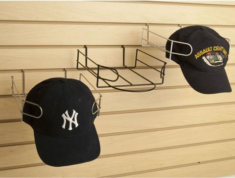Slatwall Baseball Cap Display | Black, White or Chrome | Case of 8