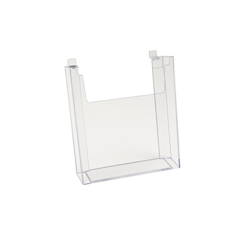"Slatwall Acrylic Brochure Holder 8.5"" x 11"" | Case of 12"