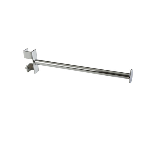 """12"""" Long  Round Tube Clam-On Display Arm For 1 """" Square Tubing Clothing Racks"""