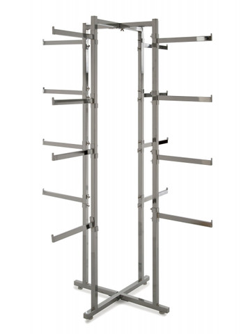 "4 Way Folding Lingerie Rack With 16 rectangular 12"" L Arms 