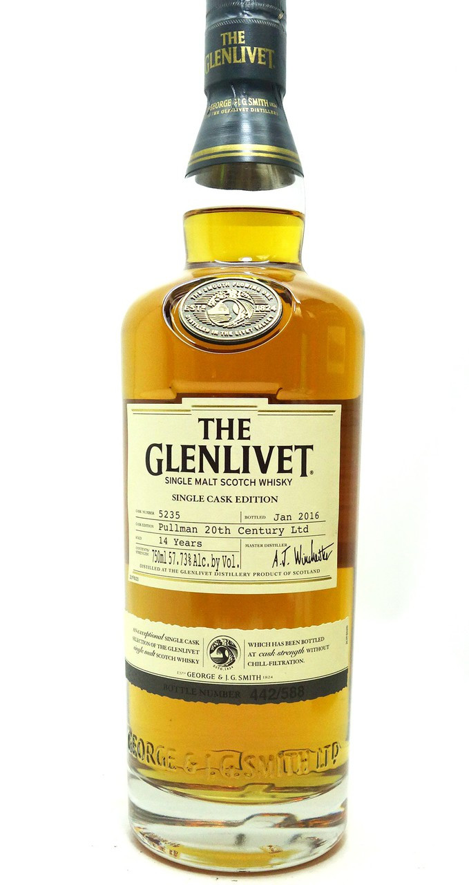 the glenlivet single cask edition scotch whisky 14 years pullman