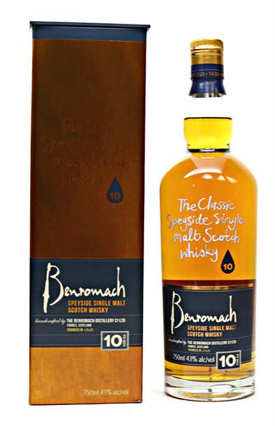 Benromach Speyside Single Malt scotch Whisky 10yr