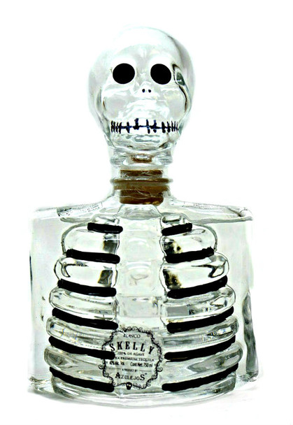 SKELLY BLANCO TEQUILA Clear Bottle