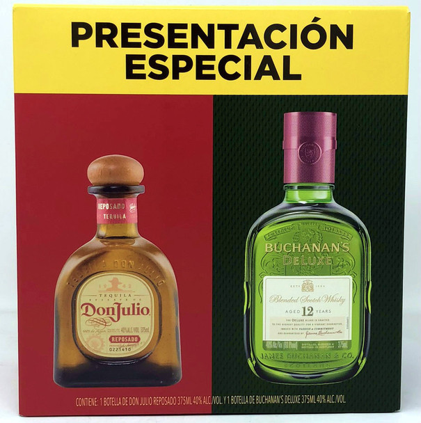 Don Julio Tequila & Buchanan Whiskey Dual Pack  375ml