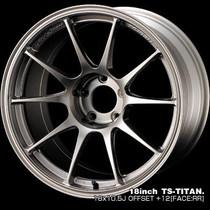 Weds TC-105N 18x10.5 ET12 5x114.3 - Titan