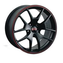 XXR 518 15x5.5 ET40 5x114.3 Matte Black & Red Pinline