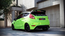 Maxton Designs REAR BUMPER FORD FIESTA MK7 (FOCUS RS LOOK)