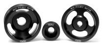 GFB 3-Piece Underdrive Pulley Kit(Crank, Alternator & Power steering pulleys & Belts WRX/STI 1999-00