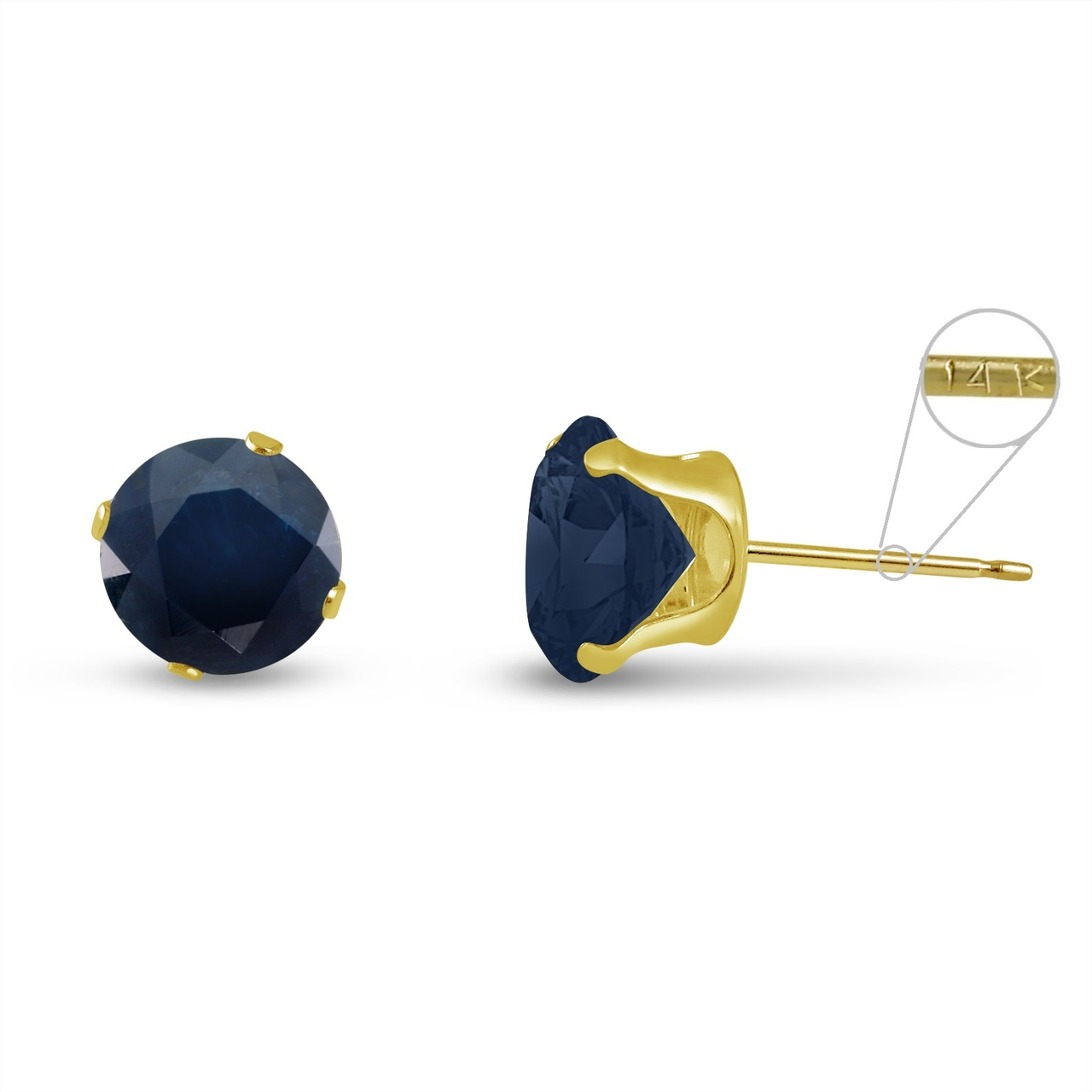 mens blue stud itm diamond gold ebay single earring carat sapphire