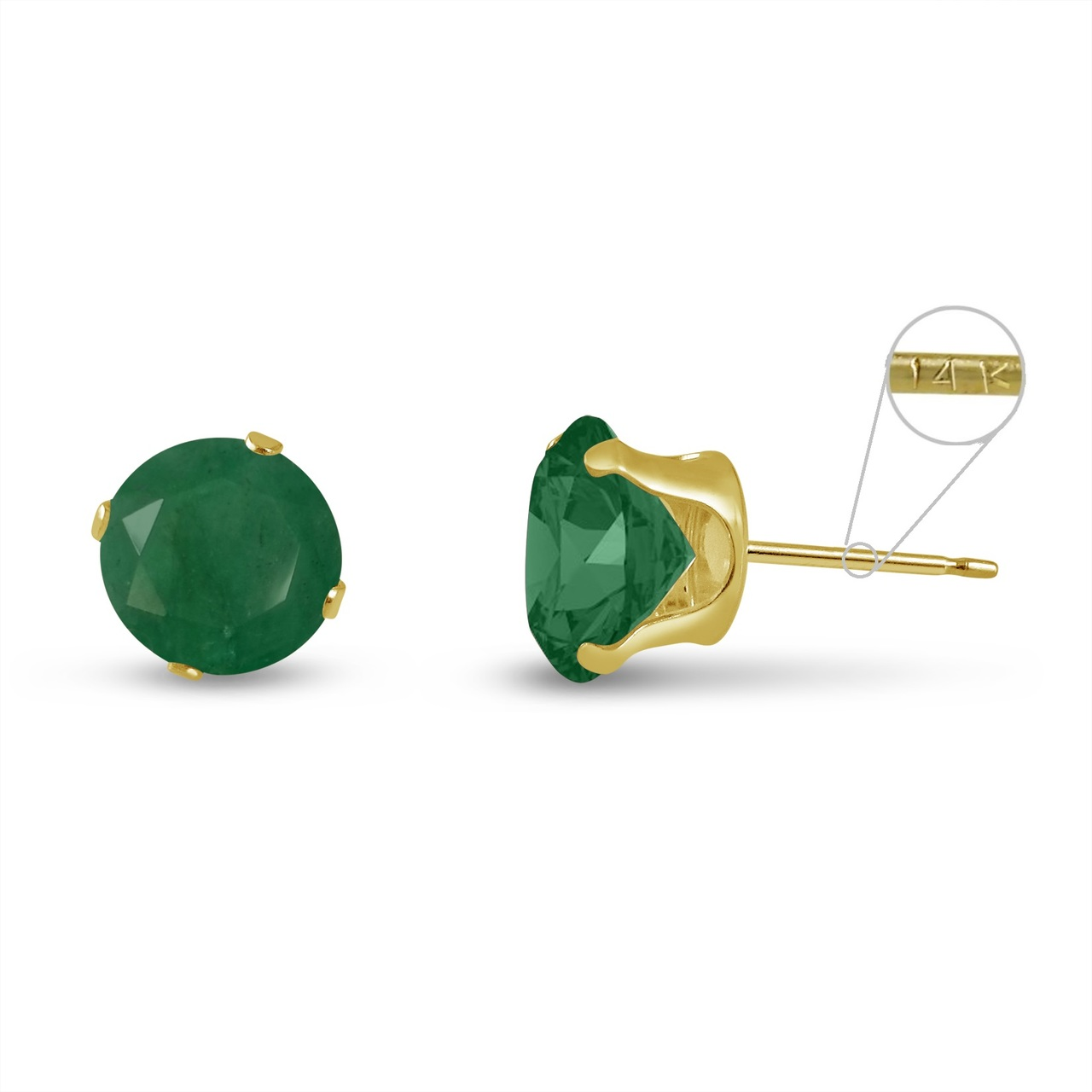 spade kate earrings i stud new tradesy geen green emerald round