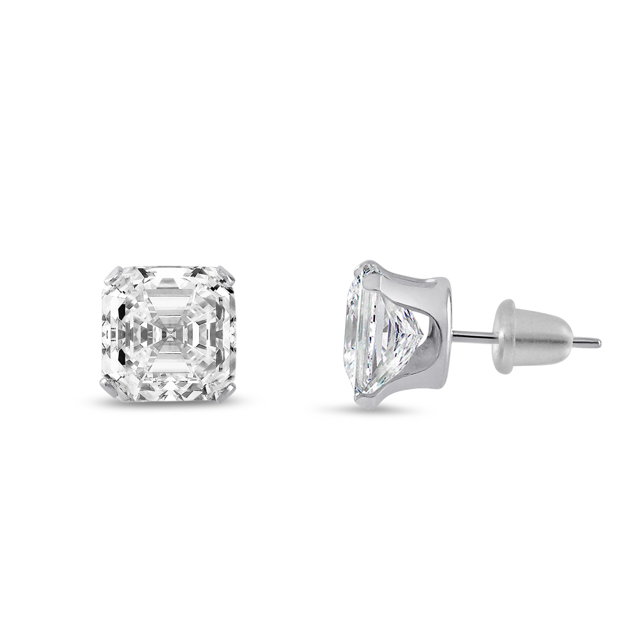 Cher Cubic Zirconia White Gold Earrings
