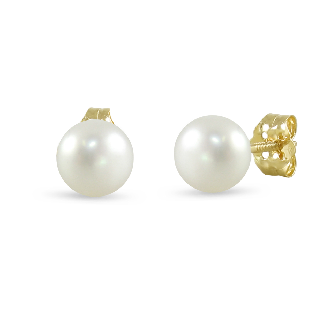 white button gold diamond cut earrings stud