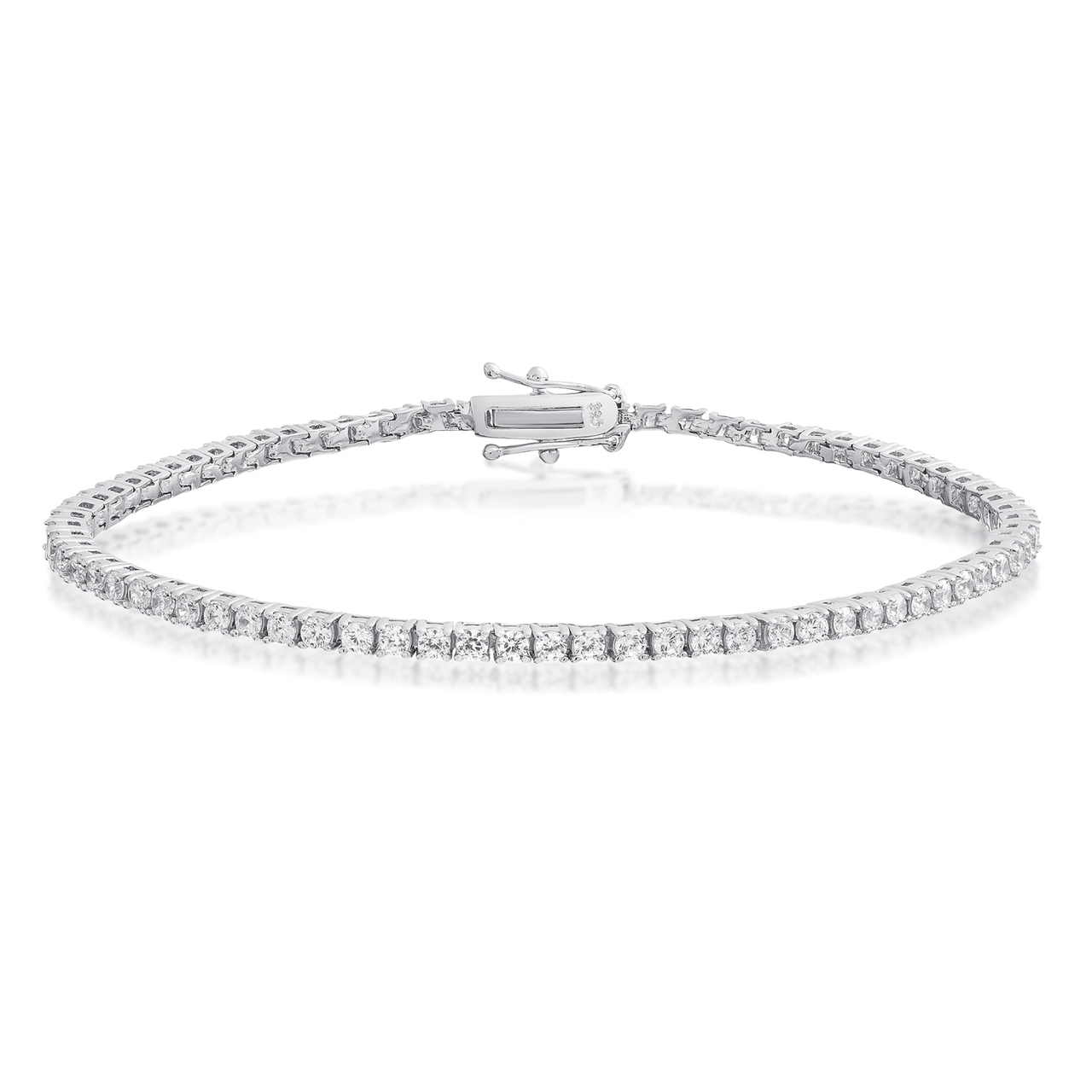 jewelry bracelet cut plated rm rhodium mens bling s silver cz sterling invisible link men