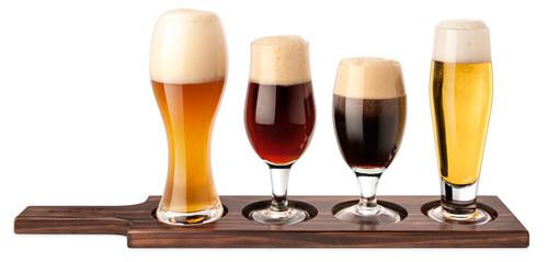 Final Touch Beer Tasting Set 6pc Dark Wood Gbt1040