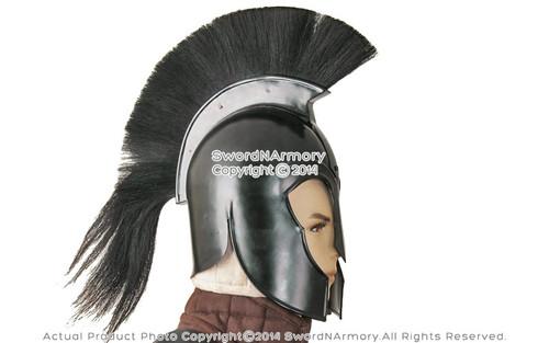 Black Trojan 300 Spartan Greek Troy Helmet with Liner u0026 Plume Costume Armor LARP  sc 1 st  MedievalGears.com & Black Trojan 300 Spartan Greek Troy Helmet with Liner u0026 Plume ...
