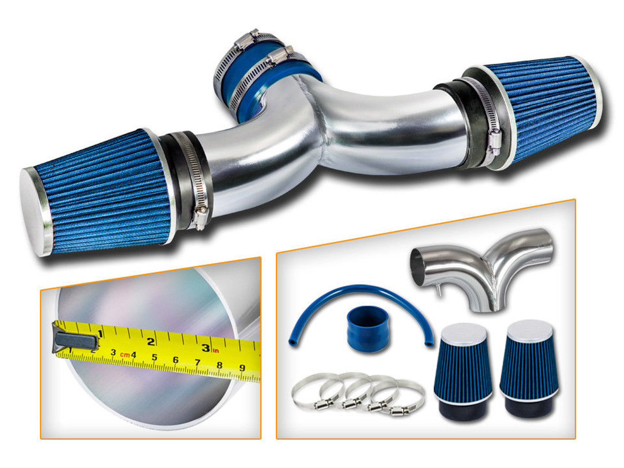 Blue Cold Air Intake Kit For Jeep Liberty 20042009 With 37l: 2009 Jeep Liberty Exhaust At Woreks.co