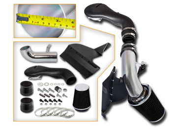 Black Cold Air Intake Kit for Chevrolet S-10 Pickup  (1996-2004) with 4.3L V6 Engine