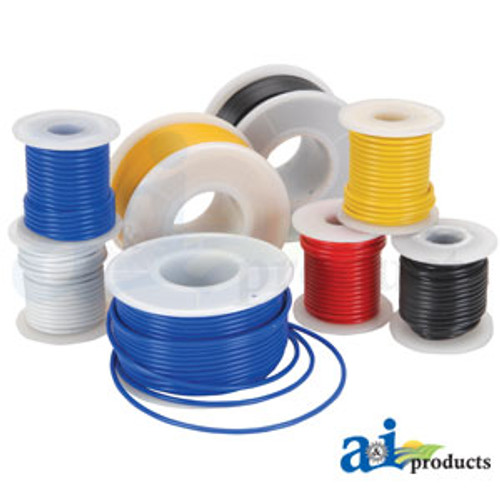 A-26A12-Coil Pack Primary Wire, 12\', 12 Ga. (YLW) A-26A12