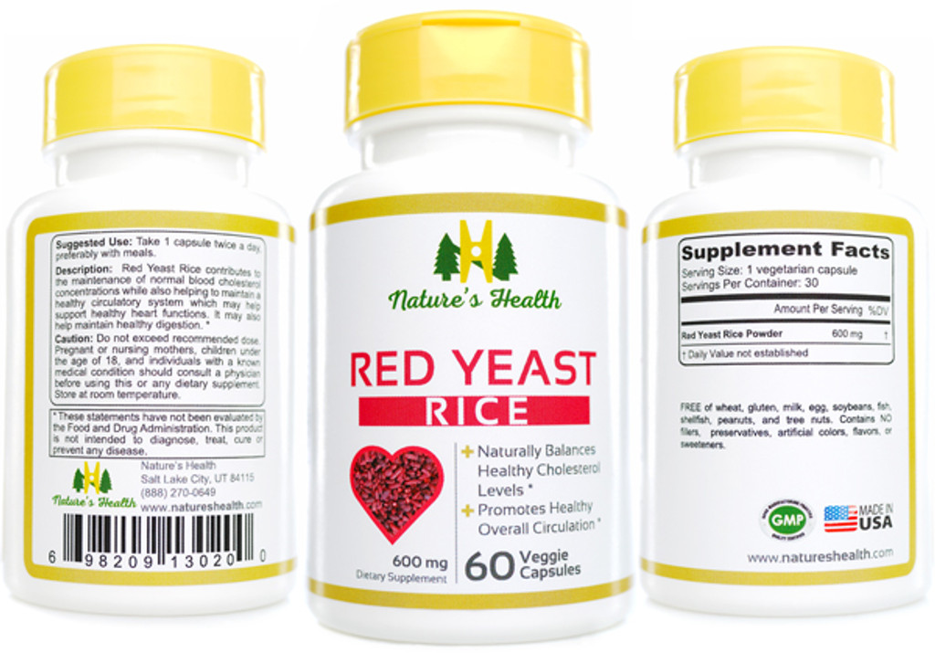 Red Yeast Rice: Monascus Purpureus  Herbal Supplement