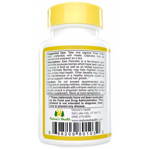 Saw Palmetto: Serenoa Repens Suggested Use