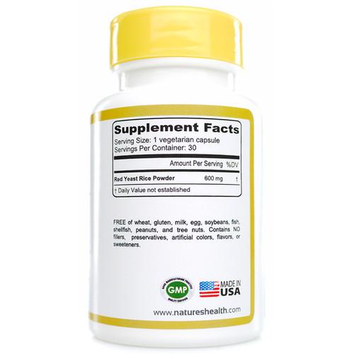 Red Yeast Rice: Monascus Purpureus  Supplement Facts
