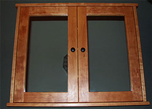 Double Door, Shaker Style, Surface Mounted Medicine Cabinet, Cherry, Oak,  Or Maple, Finished