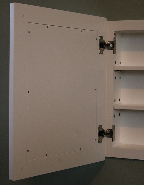 Charmant This One Is · This Photo Of A Concealed Medicine Cabinet Shows The Inside,  With Its Adjustable Shelves.