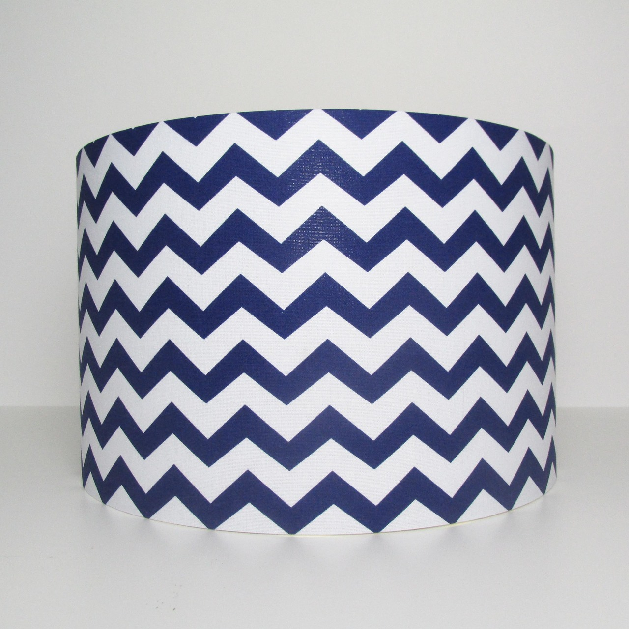 Blue Lampshade with Chevrons Design for a Boys Bedroom