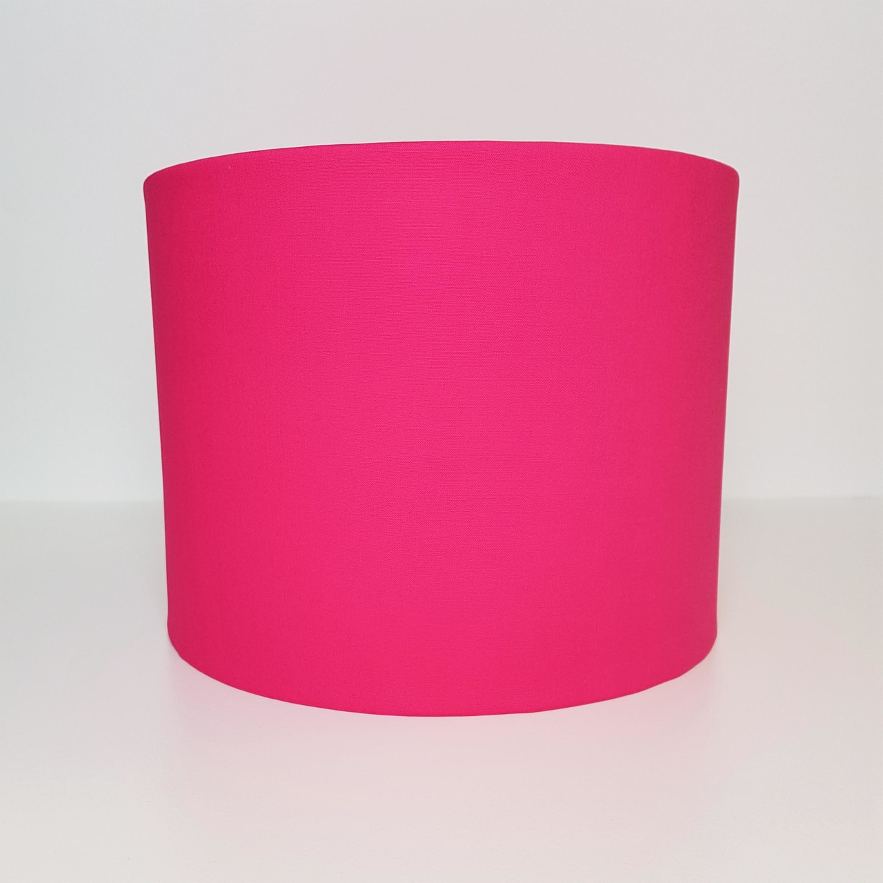 Bright Pink Lampshade, Cotton