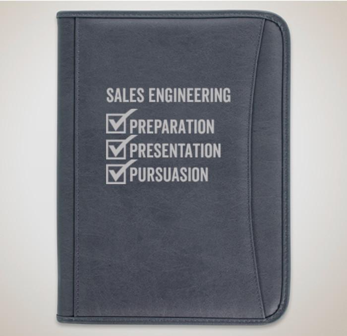 SE Premium Zippered Padfolio