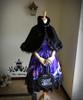 Co-ordinate show (Black Wool+ black fur) dress DR00165, blouse TP00137, bag P00585