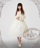 Front View (White Ver.) (hairdress: P00570, dress: DR00130, fan: P00580, petticoat: CT00040S (mid-calf length), birdcage petticoat: UN00019L)