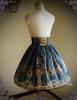 Rococo Lolita Elegant Gothic Steel Boned High Waist Skirt*4colors Instant Shipping