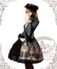 Model Show (Black + Grey Ver.) (choker: AD00581, dress: DR00170, gloves: P00581, fan: P00580, skirt: V00002N, birdcage petticoat: UN00019, leggings: P00423)
