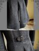 Elegant Gothic  Aristocrat Victorian False 4pcs Tweed Tuxedo Jacket Long Coat for Man
